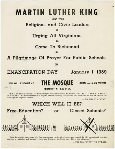 poster advertising Pilgrimage of Prayer event, 1959