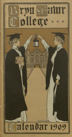 Bryn Mawr College Calendar 1909 cover illustration