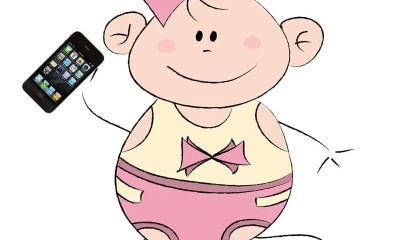 Cartoon-baby-with-iPhone