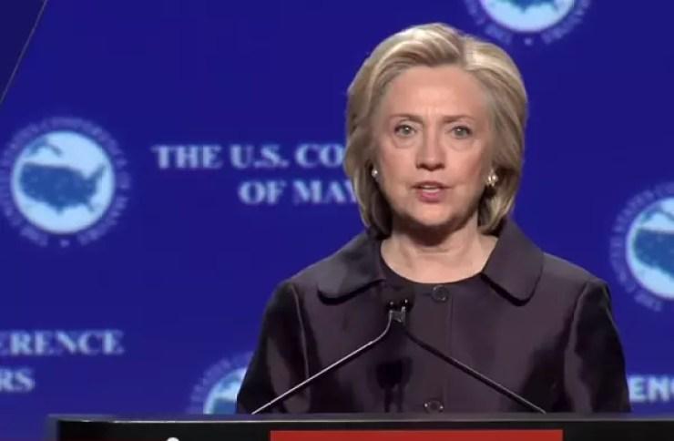Clinton-USConferenceOfMayors