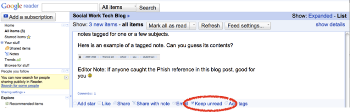 Step 6: Keep Your Feeds unread