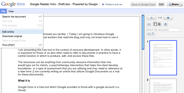 Google Docs - How to Upload: Step 4