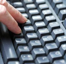 A standard QWERTY keyboard