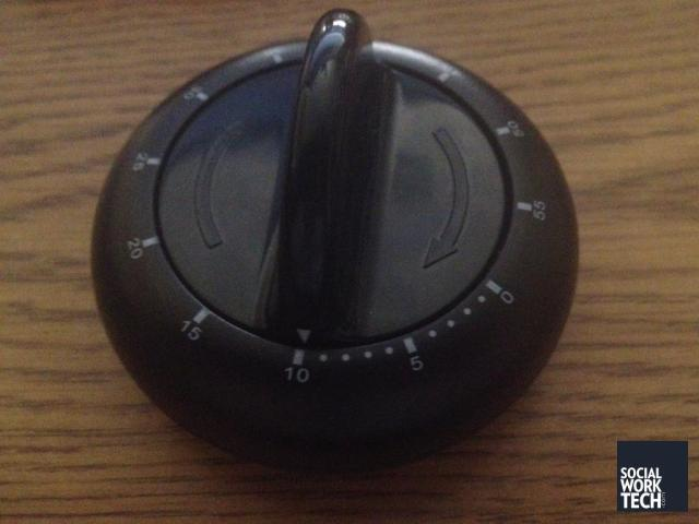 Picture of a black Ikea Egg Timer