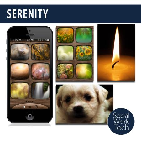 Screenshots of the Serenity App