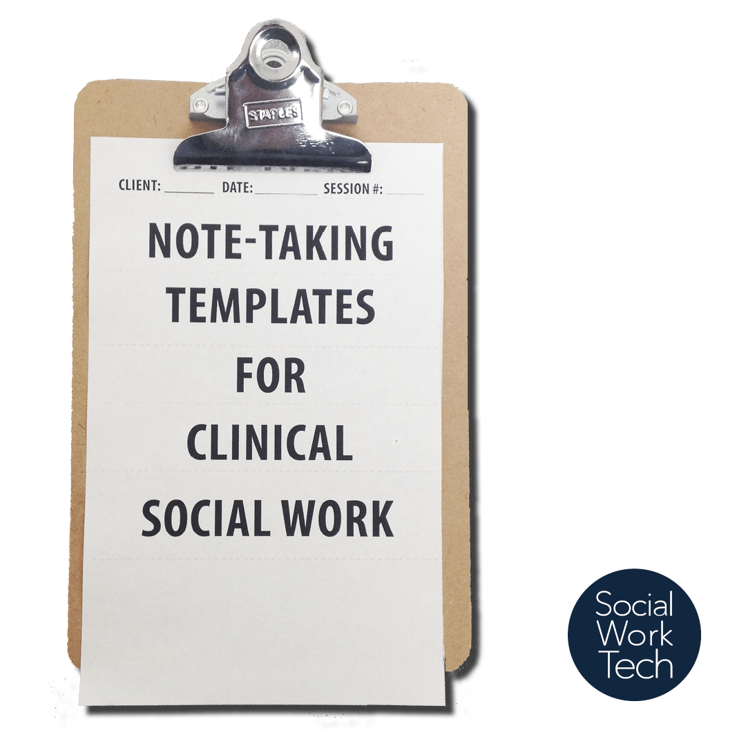 Note Taking Templates For Clinical Social Work Social