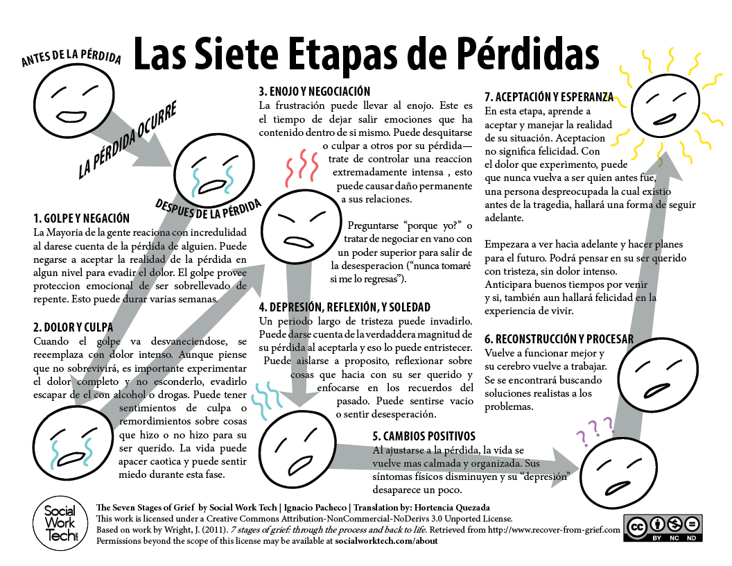 Las Siete Etapas De Perdidas The Seven Stages Of Grief