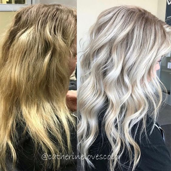 If you're already a loyal fan of highlights, lift out unwanted warmth or brass and rock a pale blonde this season.