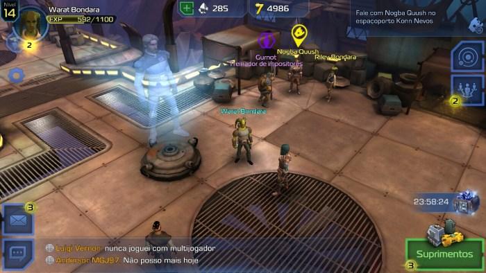 Gráficos cumprem o prometido para um bom RPG. Jogador pode sofrer com telas pequenas.