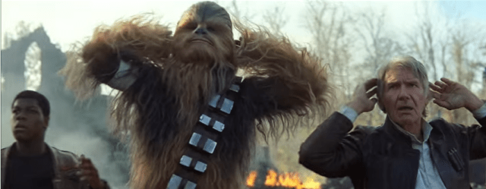 Han, Chewie e Finn