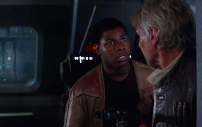 Finn e Han Solo