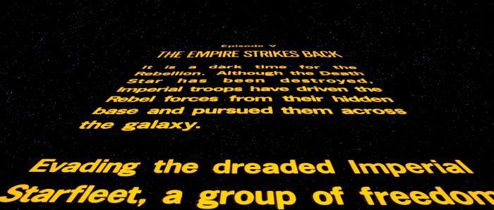 Artigo | O letreiro de abertura é um elemento fundamental em Star Wars