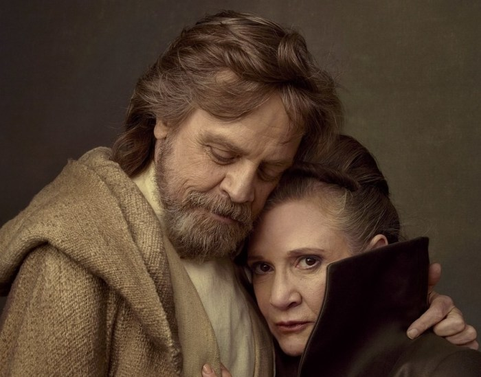 Mark Hamill e Carrie Fisher se tornaram lendas da Disney
