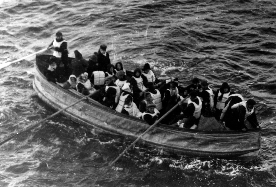 resgate salva-vidas Titanic