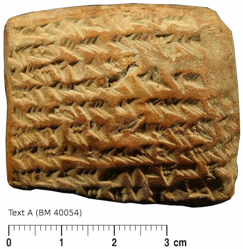 Placa cuneiforme para rastreamento de Júpiter. (Crédito da imagem: British Museum / Mathieu Ossendrijver).