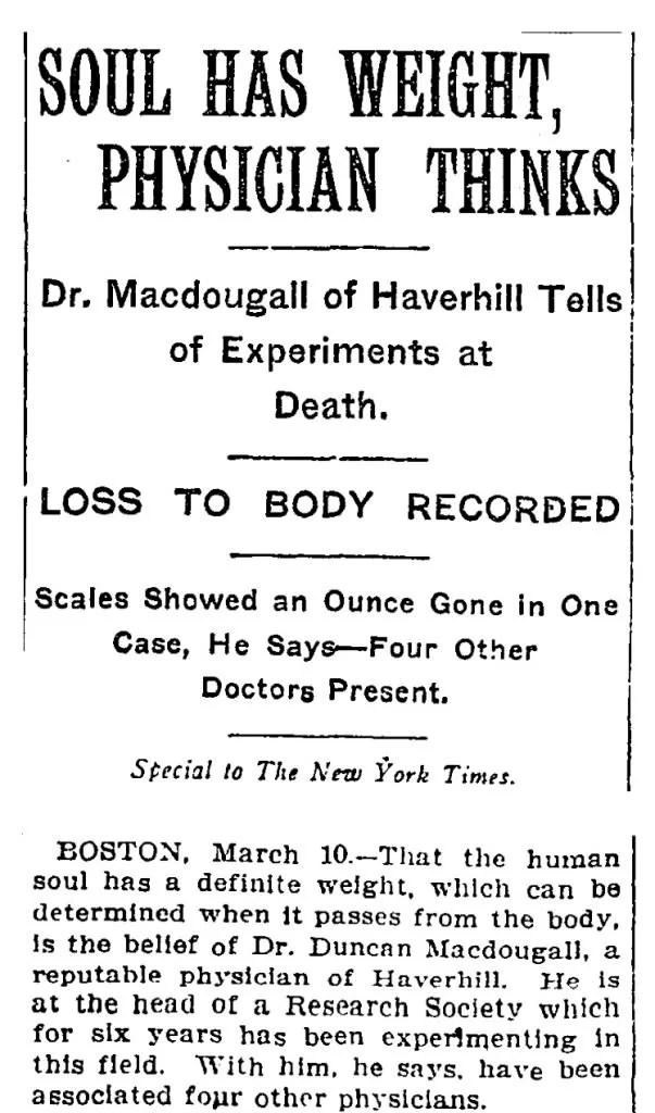 artigo de jornal em 1907