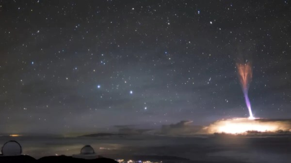 fenômeno raro no céu do havaí
