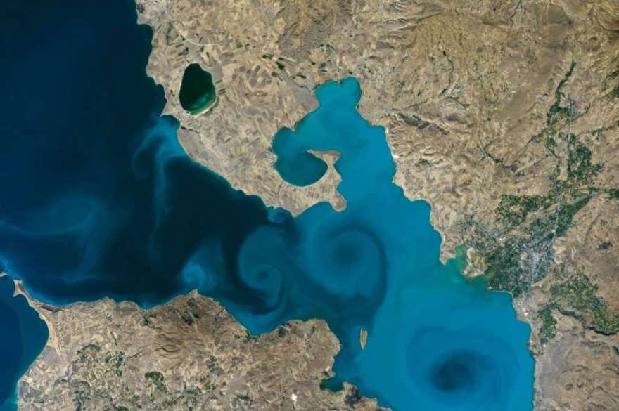 lago van na Turquia via NASA