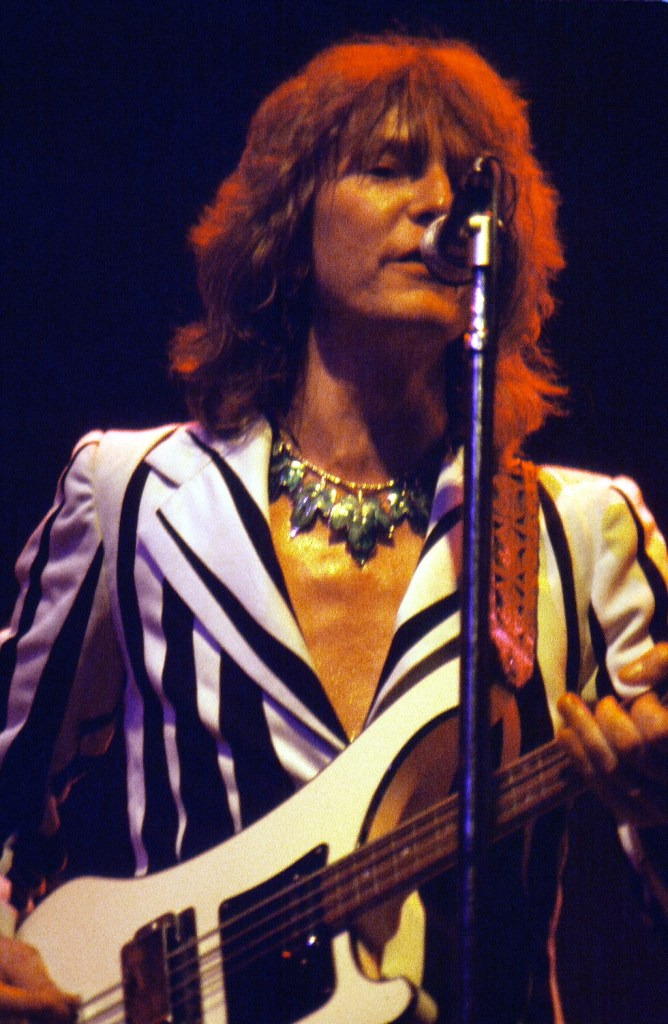 Chris Squire, member of progresseive rock band Yes, 1978