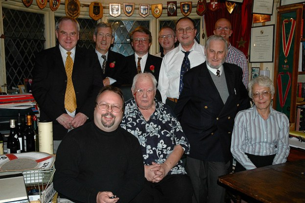 SHA Council 2005 with Sir Patrck Moore in his study at 'Farthings'