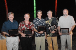 The first 5 Presidents of the Society for Molecular Imaging whom we were honored to work for. Photo taken at our last Annual Meeting together on the Big Island of Hawaii!