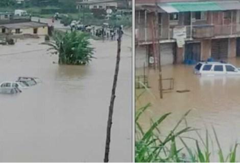 Several Houses, Church Building & Cars ''Drowned'' As Merciless Rain Beats Ibadan!
