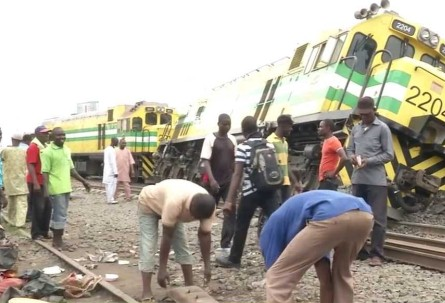 Train Derails From Track, Rams Into Trailer Killing, Injuring Many In Lagos