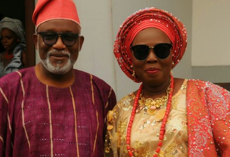How Gov Rotimi Akeredolu, Wife Betty Celebrated 37yrs Of Marriage
