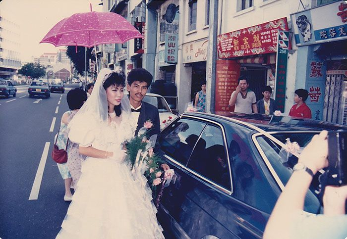 "Tan with husband Simon Si on their wedding day in 1988. He has been her ""pillar of strength"", said Tan."