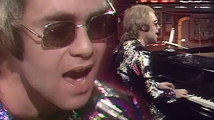 """24-Year-Old Elton John Plays """"Tiny Dancer"""" For The First Time, And It's Pure Magic   Society Of Rock Videos"""