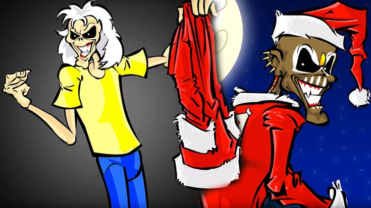 Rock Out With This Amazing Iron Maiden Christmas Themed