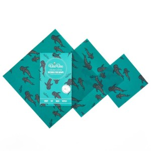reusable beeswax food wrap whale pod print