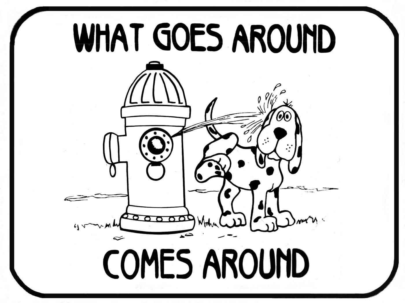 What goes around come around