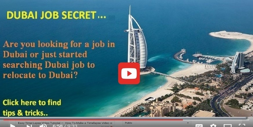 Dubai Job secret