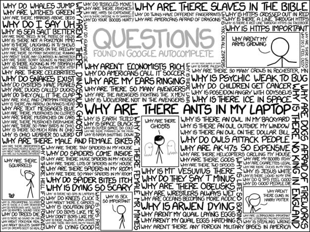 Google autocompletion algorithms questions xkcd