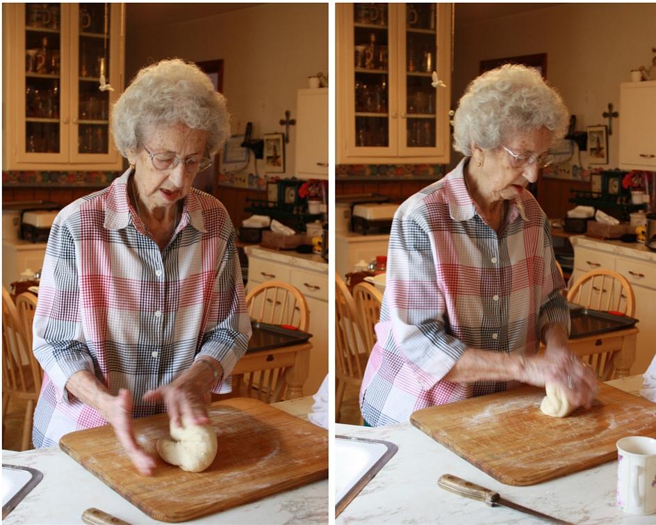 Mon Kneading Bread