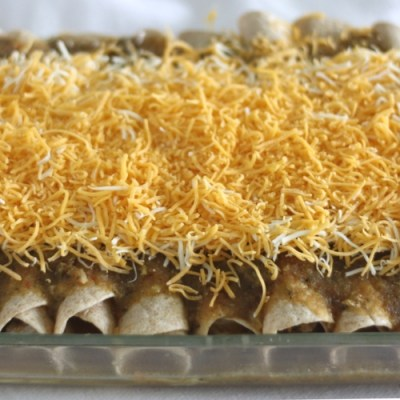 Chicken Enchiladas with Green Chili Sauce