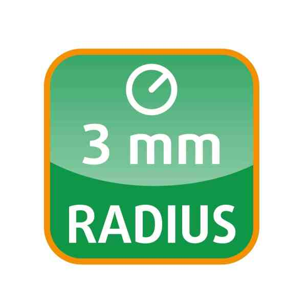 3 mm Radius