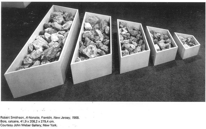 Robert Smithson: A Nonsite, Franklin, New Jersey, 1968