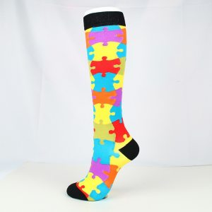 patch pattern women compression socks