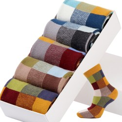 multi square color socks