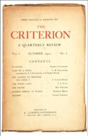 The Criterion, edited by T. S. Eliot