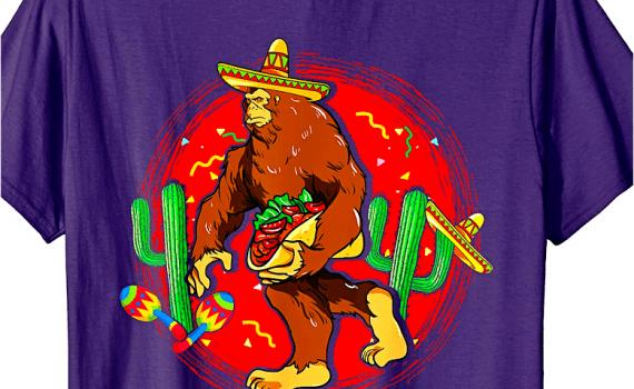 Big Foot Carrying A Taco