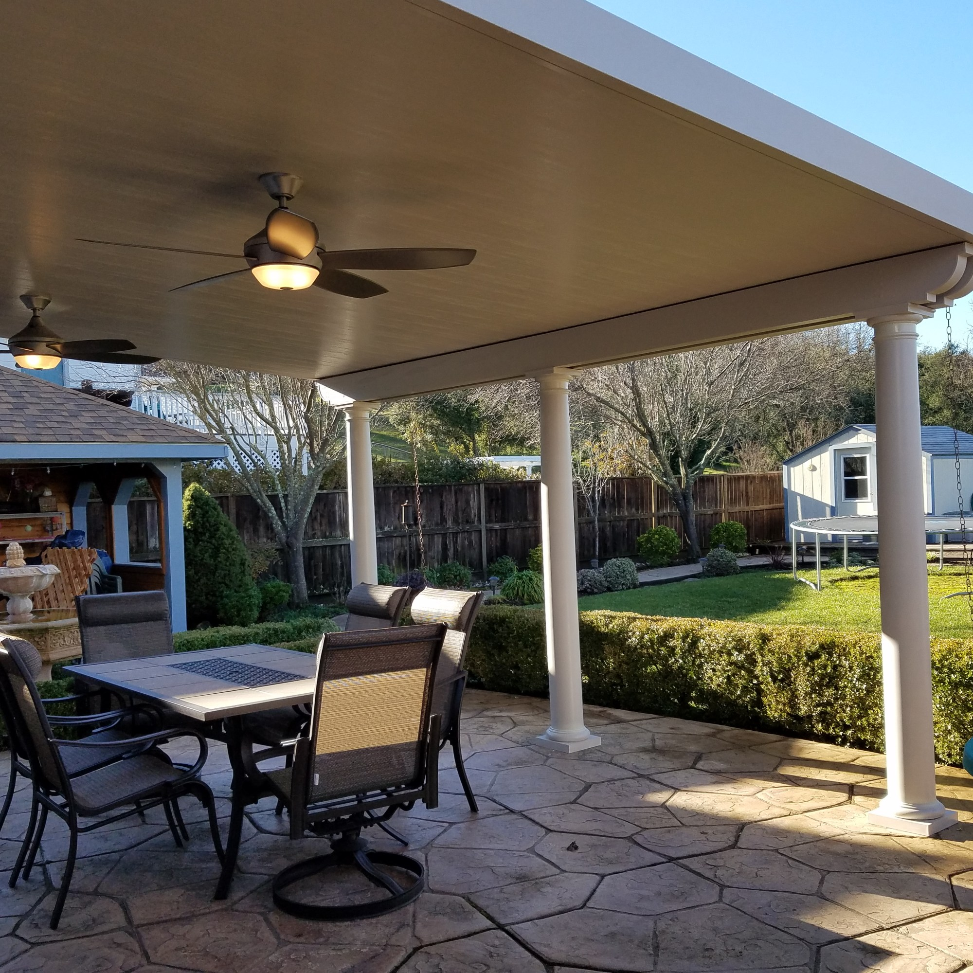 Insulated Roof Patio Cover with fans