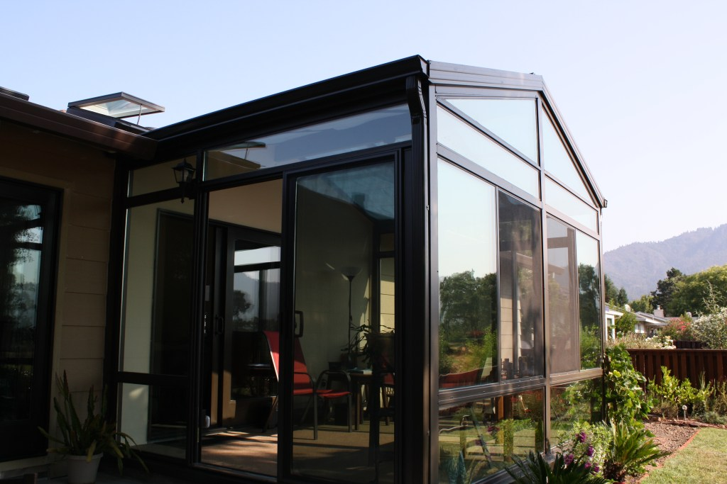 Bronze Exterior Cathedral Sunroom