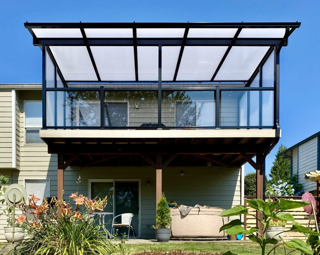 Patio Cover and Glass Railing