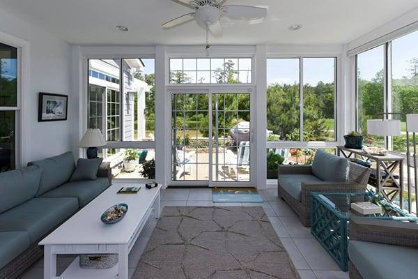 Interior Straight Roof Sunroom