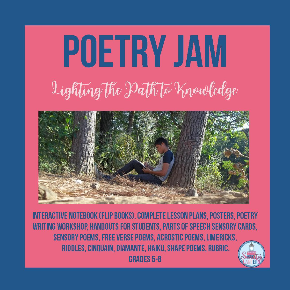 Poetry Jam Interactive Notebook-Foldables