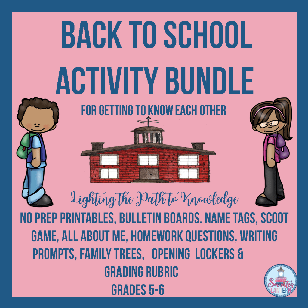 Back to School Activity Bundle for Getting to Know Each Other
