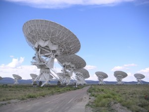 image of the VLA radio telescopes